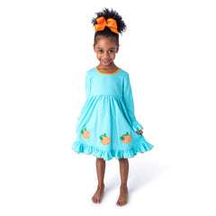 18F20 Pumpkin Applique Girl's Dress