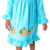 Beautiful Pumpkins Applique Dress