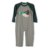 Deer Applique Boy's Long Romper