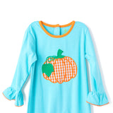 Fall Pumpkin Girl's Romper