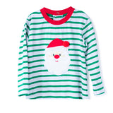 Applique Boy's Green Stripes T-Shirt