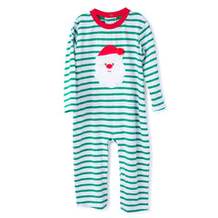 44H20 Santa Applique Baby Boy's Romper