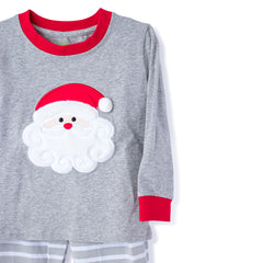 57L20 Santa Applique Unisex 2 Piece Christmas Loungewear