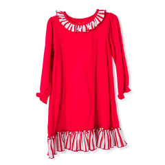 59L20 Blank Red Girl's Christmas Gown L/S