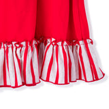 Ruffles on the Girl's Christmas Pajama