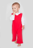 Christmas Red Boy's Longall Bank Knit