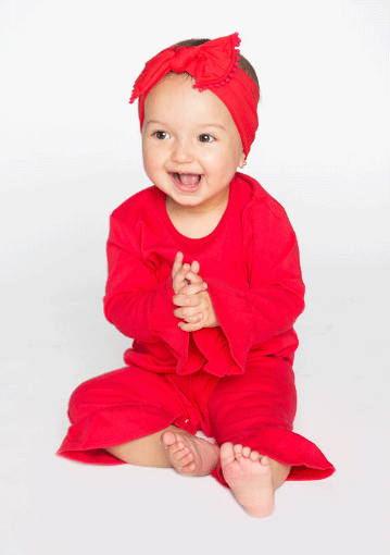 Christmas Baby Knit Romper