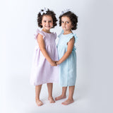 Seersucker Spring and Easter Girl's Dress - Wholesale
