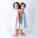 Pink Seersucker Summer Girl's Dress Wholesale