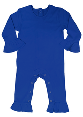 127H18 - Royal Blue Baby Girl's Knit Romper