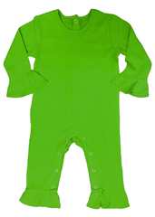 125H18 - Green Baby Girl's Knit Romper