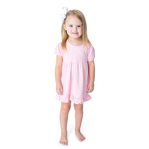 07S21 Applique Easter Bunny Girl's Dress