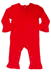 121H18 - Red Baby Girl's Knit Romper