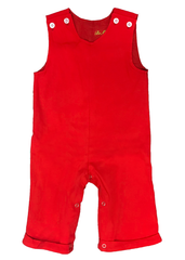 122H18 - Red Knit Baby Boy's Longall