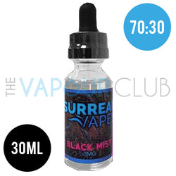 Black Mist (Blackcurrant and Mint) by Surreal Vapes - 30ml (70:30)