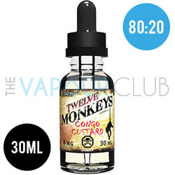 Congo Cream (Strawberry Custard) by Twelve Monkeys - 30ml (80:20)
