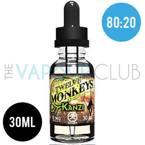 Kanzi (Strawberry, Watermelon & Kiwi) by Twelve Monkeys - 30ml (80:20)