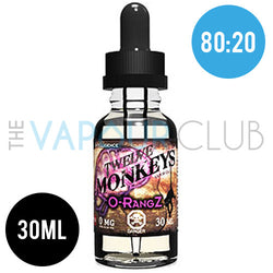 O-Rangz (Citrus Fruits, Cereal & Milk) by Twelve Monkeys - 30ml (80:20)