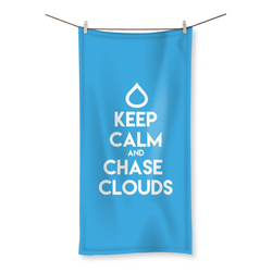 Keep Calm and Chase Clouds - Beach Towel