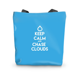 Keep Calm and Chase Clouds - Tote Bag