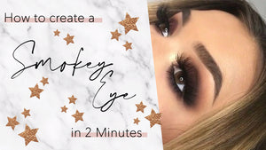 how to create a two minute smokey eye