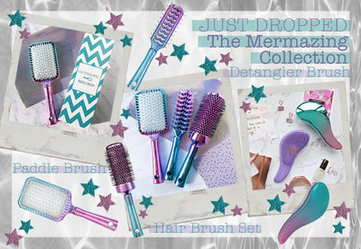 Make waves with the NEW Mermazing Hair Brush Collection 💜