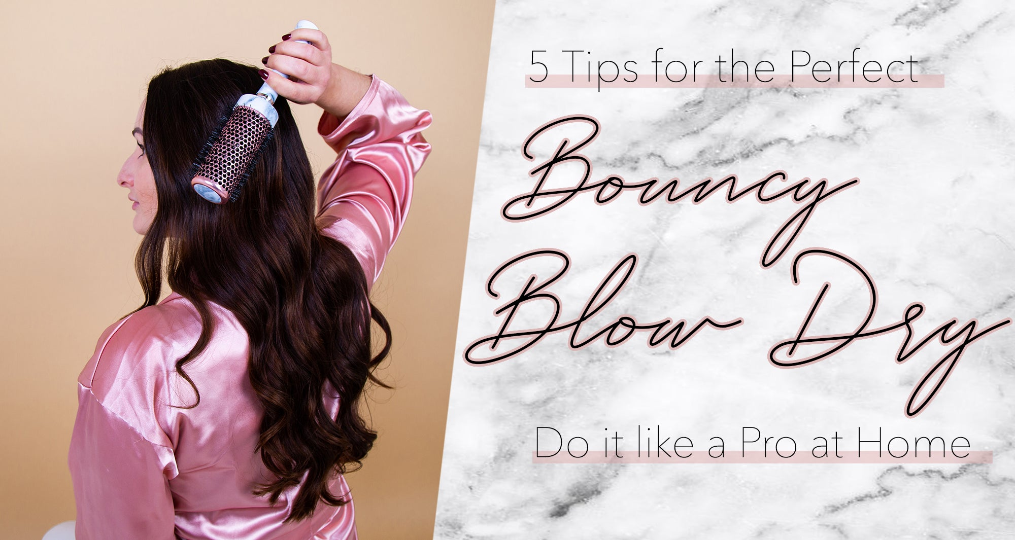 how to do a bouncy blow dry at home