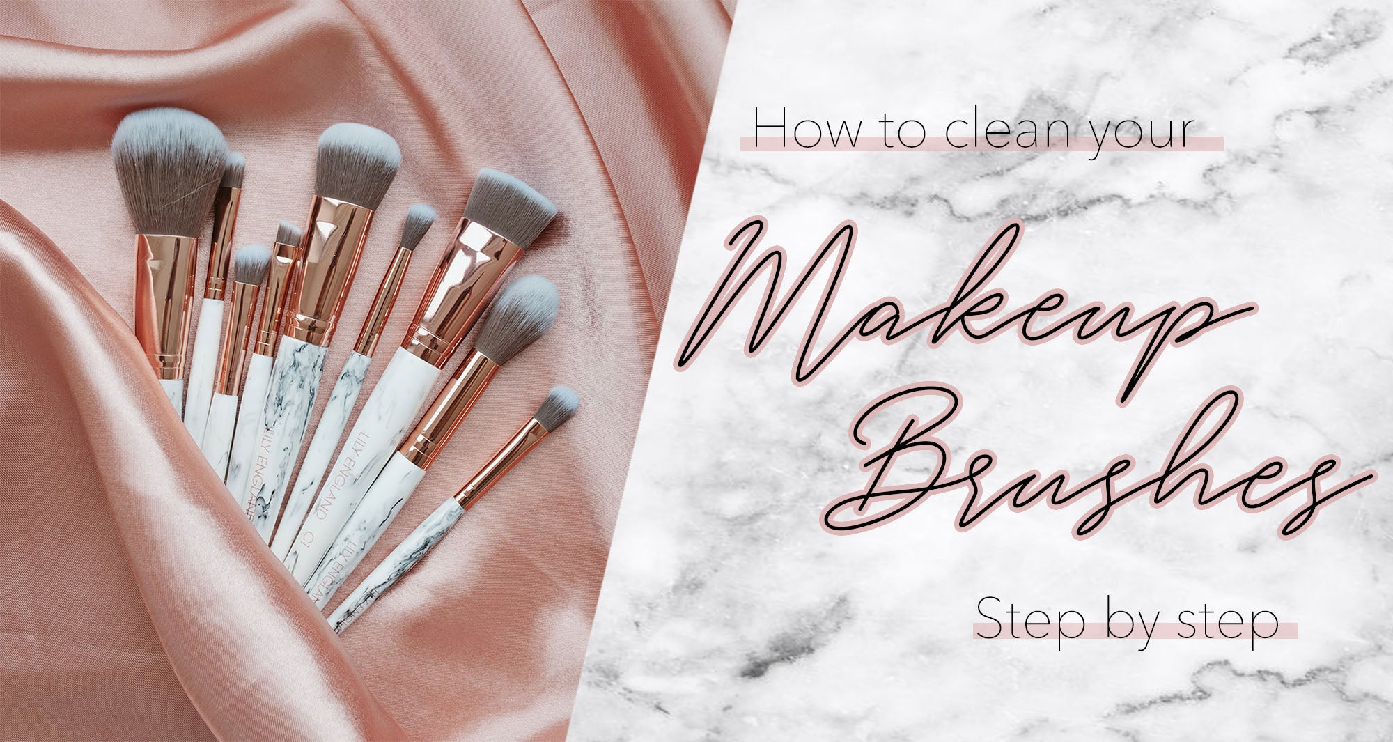 how to clean makeup brushes guide tutorial easy quick fast shampoo