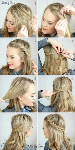 side french braid no heat hairstyle