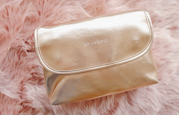 large wash bag womens rose gold