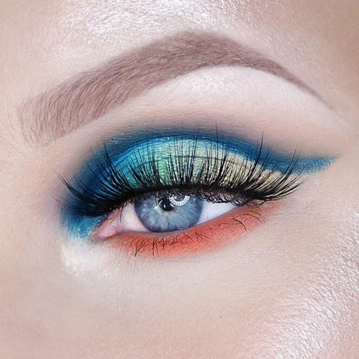 bright eye shadow makeup trend 2018