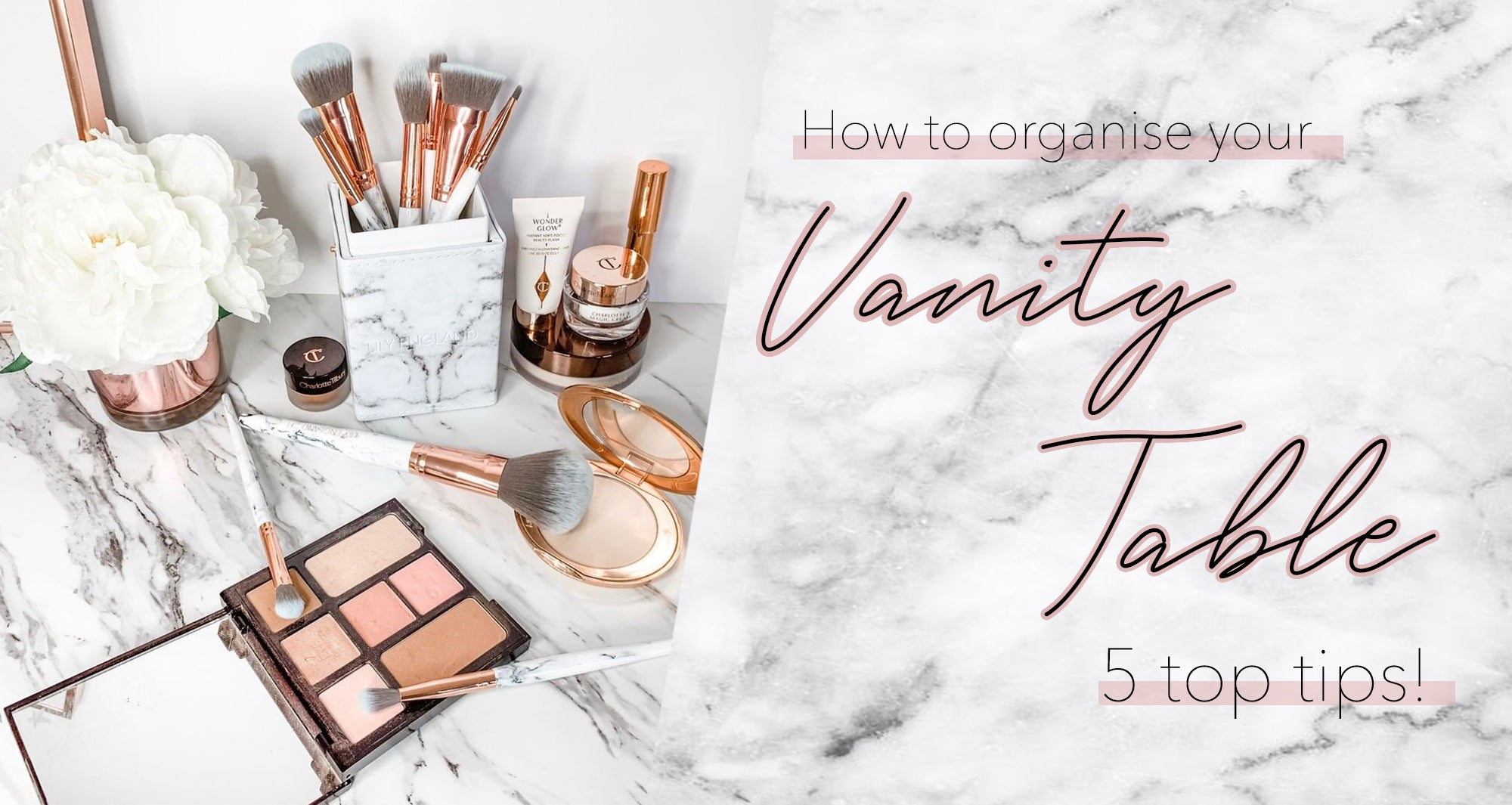 how to organise your vanity table
