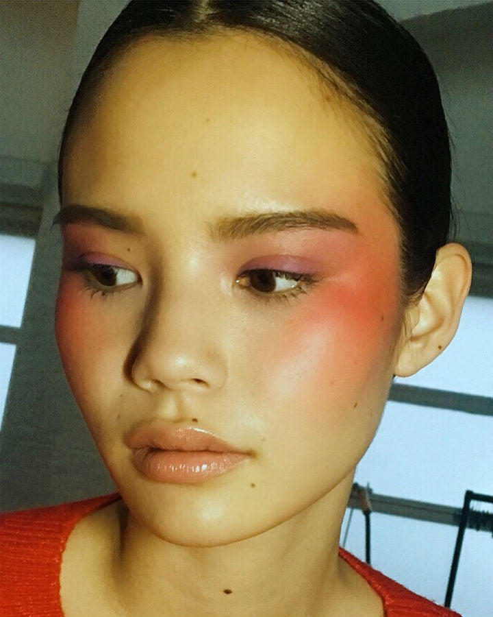 blush draping makeup trend 2018