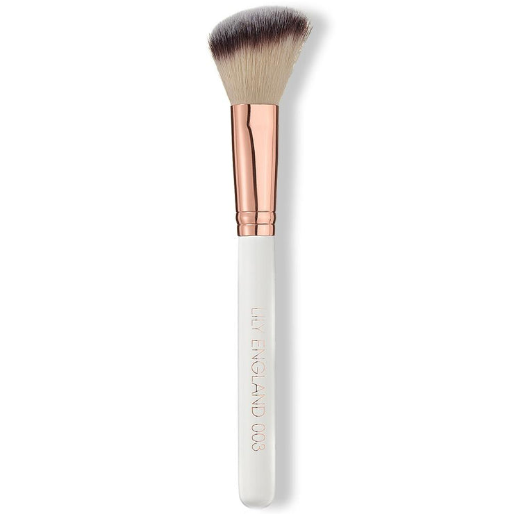 Angled Blush Brush - 003 - Rose Gold