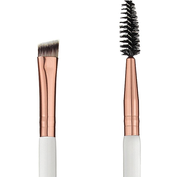 2 in 1 Angled Brow Brush and Spoolie - 105 - Rose Gold