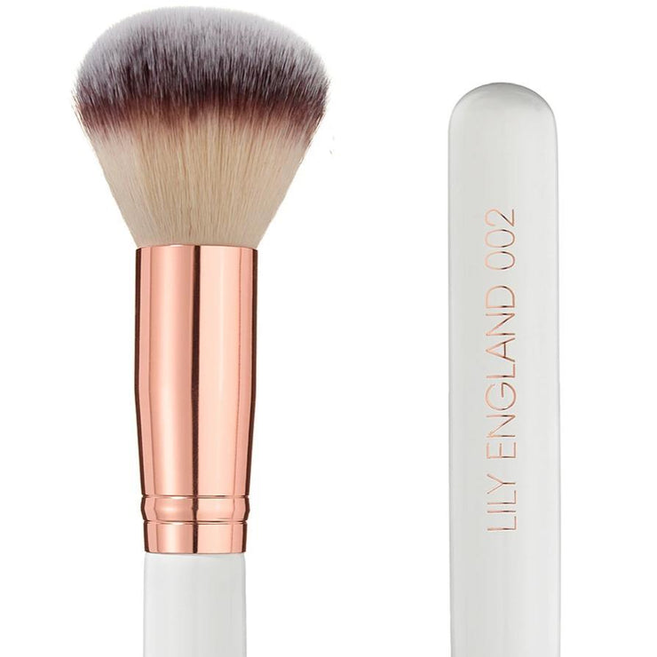 rose gold powder brush vegan and cruelty free