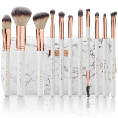 The Ultimate Makeup Brush Set & Bag - Rose Gold