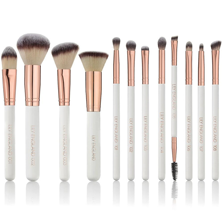 The Pro Makeup Brush Set - Rose Gold