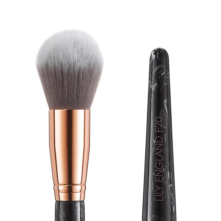 Marble Luxe Makeup Brush Set - Black & Rose Gold