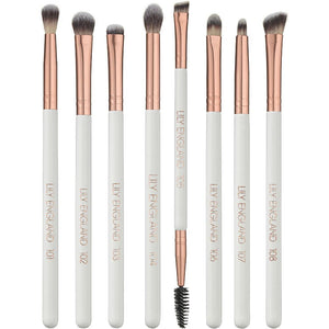 8 Piece Eye Makeup Brush Set Rose Gold