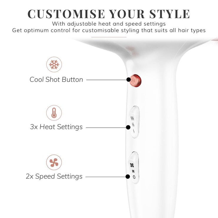 Deluxe Hair Dryer - Rose Gold