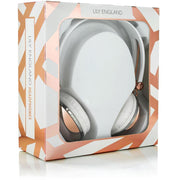 Rose Gold Headphones Over-Ear with Microphone