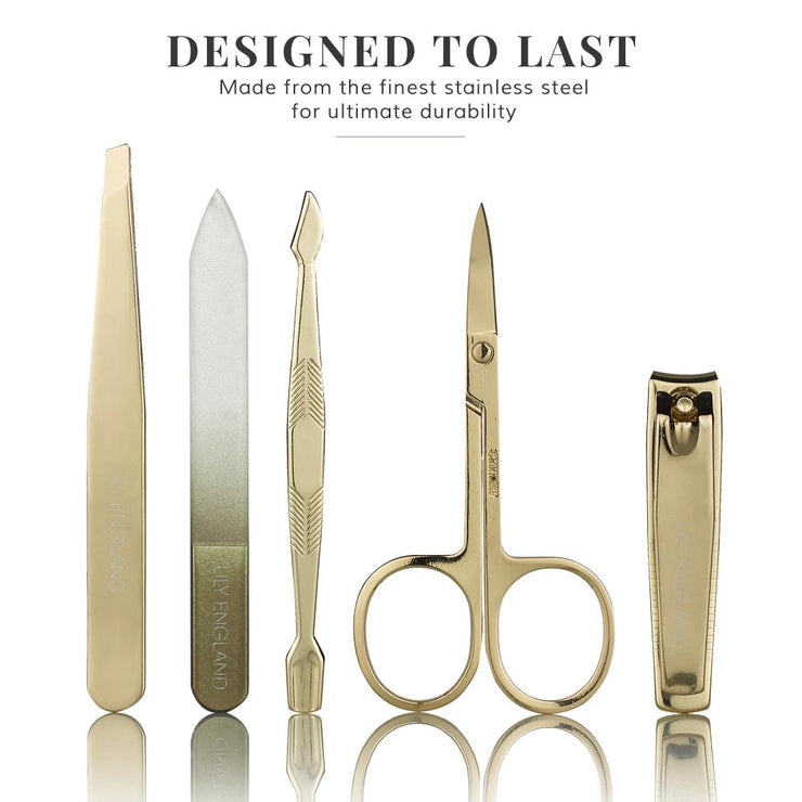 Luxury Manicure Set - Black & Gold