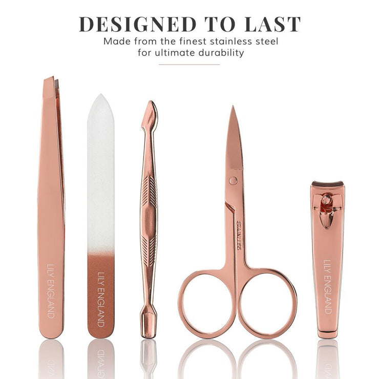 Luxury Manicure Set - Rose Gold