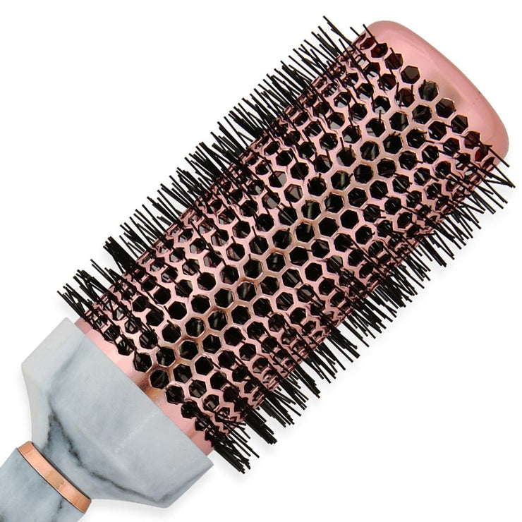 5 piece Hair Brush Set - Marble & Rose Gold