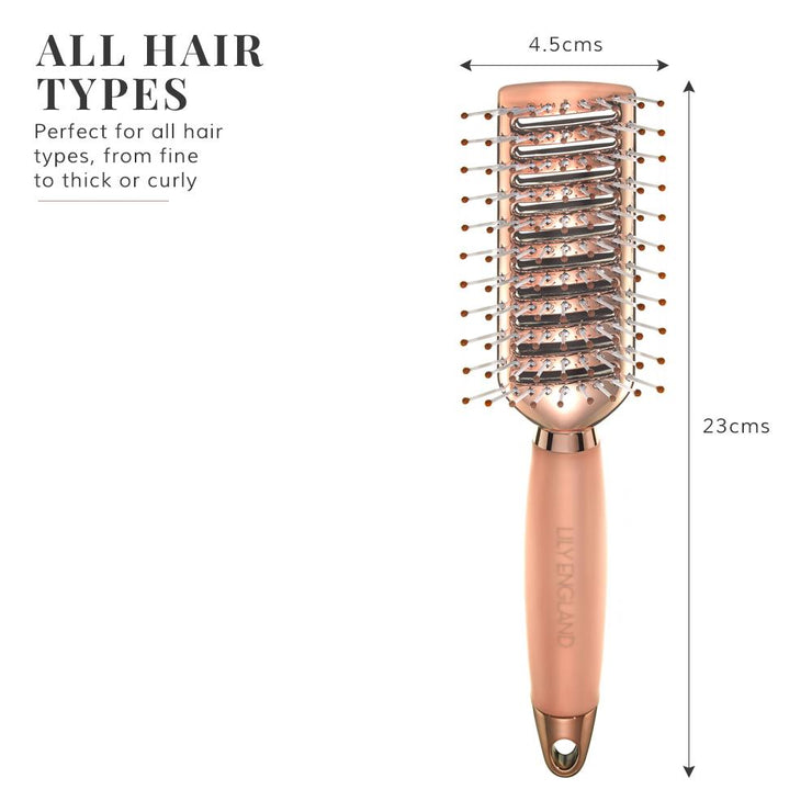 Vent Hair Brush Gel Handle - Rose Gold