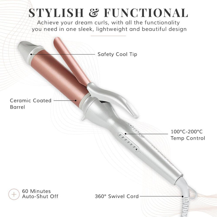 Deluxe Curling Tongs - Rose Gold Hair Curlers