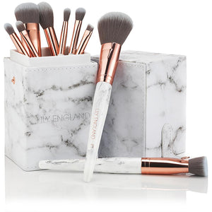 The Marble Luxe Makeup Brush Set \u0026 Case , Rose Gold