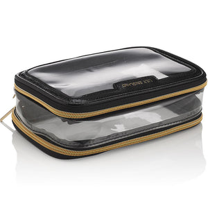 Travel Cosmetics Bag Organiser - Black & Gold