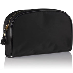 3-in-1 Makeup & Beauty Bag Set - Black & Gold